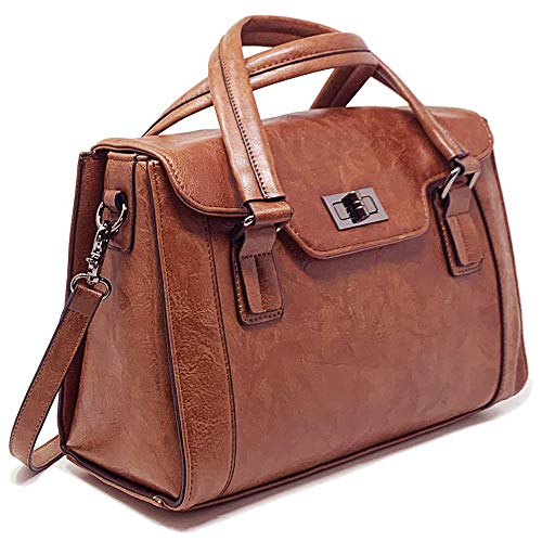 Camera Bags for Women, Multi-Functional Leather Top-Handle Ladies Handbags and Purses with Removable Padded Case