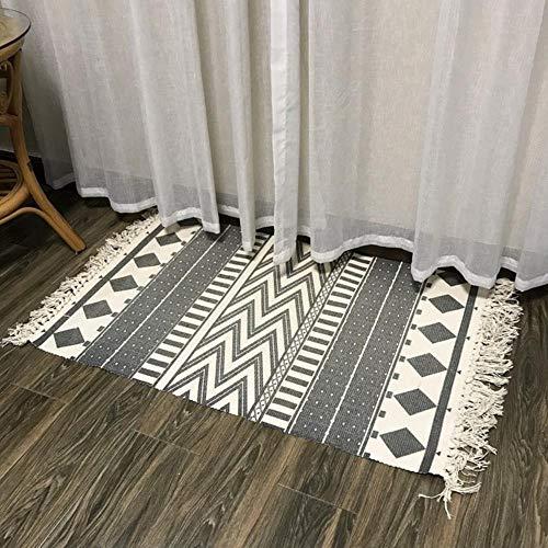 FICI Eenvoudige Nordic decoratieve tapijt Soft Home Tapijt Woonkamer Slaapkamer Kamer Versieren Home Vloer Deur Mat, GEEN 6,60x130cm