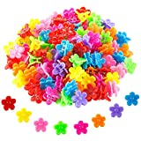 WolinTek 100 Piezas Mini Hairpin Paw Flower Mini Clips de Pelo Niña Pinzas Pelo Bebe Garras de Pelo de Plástico Accesorios para el cabello para Chicas y Mujeres