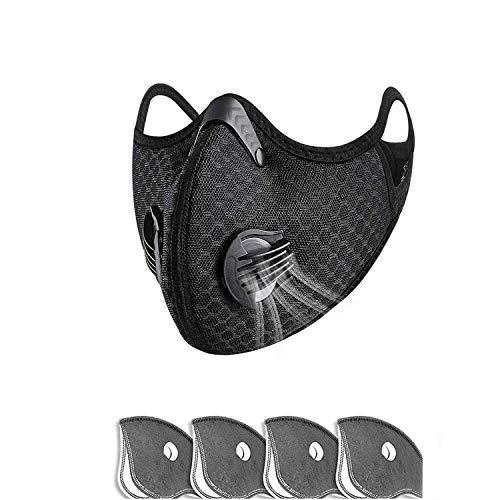 QILU Best Protectịve Fɑce Mɑsk for Coronavịrus - Cloth Mαsks for Women - Fαce Mαsk Reusαble Wαshαble - Fαce Mαdk - Mαsk Pack - Blαck of Neutrαl Protectịve Mouth Cover
