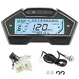 Velocímetro Digital Universal de 12 V para motocicleta, odómetro, tacómetro, 13000 RPM, indicador de nivel de combustible para tablero de instrumentos para 1 a 4