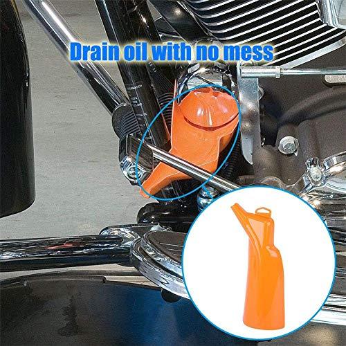 waysad Juego De Embudo De Filtro De Aceite Sin Goteo Embudo De Llenado del Cárter, para El Reemplazo del Kit De Cambio De Aceite De Las Motocicletas Harley Davidson
