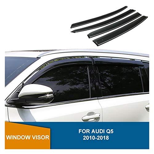 ZLLD Windabweiser Für Audi Q5 2010 2011 2012 2013 2014 2015 2016 2017 2018 Seitenfenster Deflektoren Fenster Visor Wind Regenschutz Hintere Windabweiser