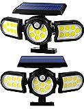 Solar Lights Outdoor, 140 LED Solar Motion Sensor Flood Security Lights, 3 Heads...