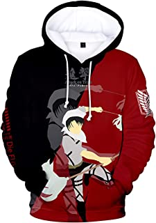 Boy's AOT Hoodie Attack On Titan Hoodies Two Colors 3D Print Fashion Sweatshirt