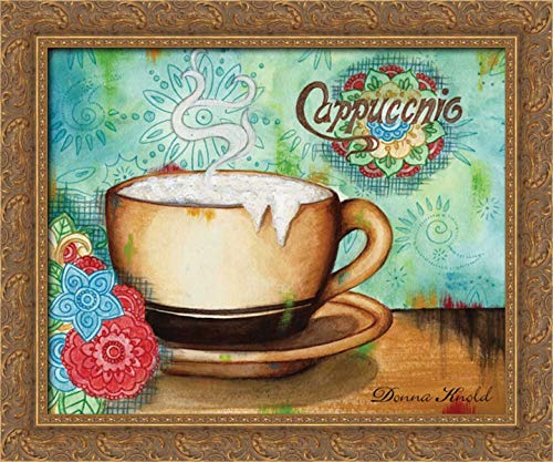 Knold, Donna 24x20 Gold Ornate Framed Canvas Art Print Titled: Spring Cappuccino