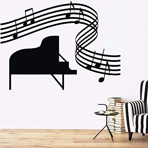77 x 57 cm vinyl muursticker muziek piano Sheet Wall Decal Music Score Home Room Decoratie muziek Wall Decor Vinyl Wall Art Mural