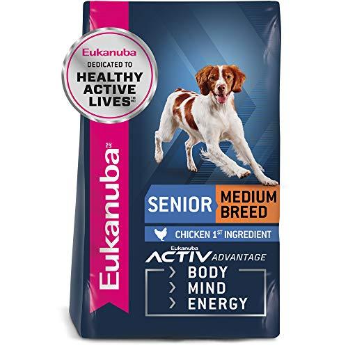 Eukanuba Senior Medium Breed Dry Dog Food, 15 lb....