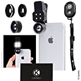 Universal 3in1 Camera Lens and Bluetooth Shutter...