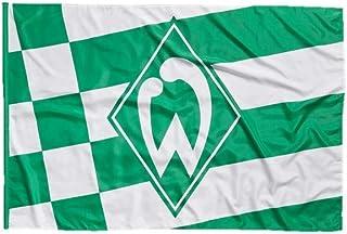 Unbekannt SV Werder Bremen Fahne/Hissfahne  Karo und Streifen  100x150 mit 2 Ösen
