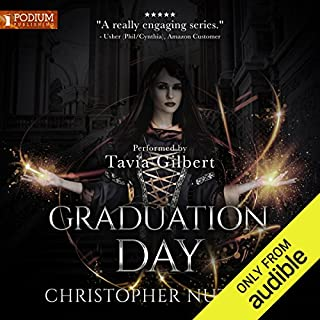 Graduation Day     Schooled in Magic, Book 14              By:                                                                                                                                 Christopher G. Nuttall                               Narrated by:                                                                                                                                 Tavia Gilbert                      Length: 12 hrs and 44 mins     645 ratings     Overall 4.7