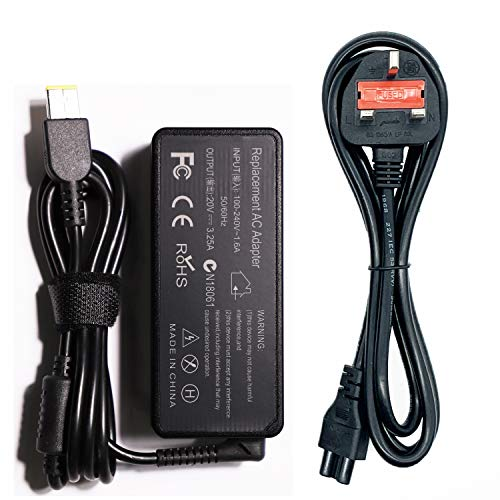 Laptop Charger for Lenovo 65W 20V 3.25A, KDJAMI Power Adapter for Lenovo Ideapad Flex 2 Flex 3 Yoga 11 11S Series, 65W AC Adapter Compatible with Lenovo Thinkpad Series and more.