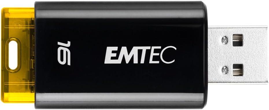 EMTEC Click USB 2.0 Flash Drive, 16 GB