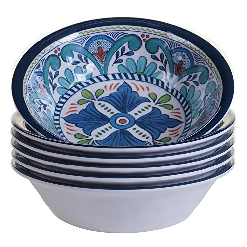 Certified International Talavera All Purpose Bowl, 7.5' x 2', Set of 6, 7.5x2 Inches, Multicolor