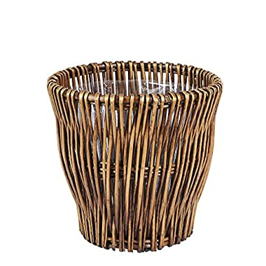 Household Essentials ML-2225 Small Reed Willow Waste Basket