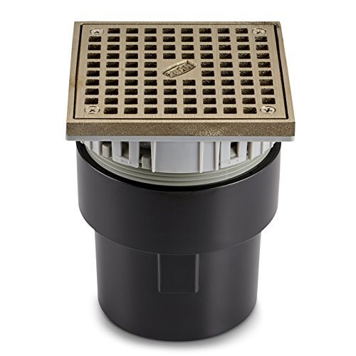 Zurn FD2212-ABS-ST Finished Area Adjustable Floor Drain with Square Top, ABS Body, 3