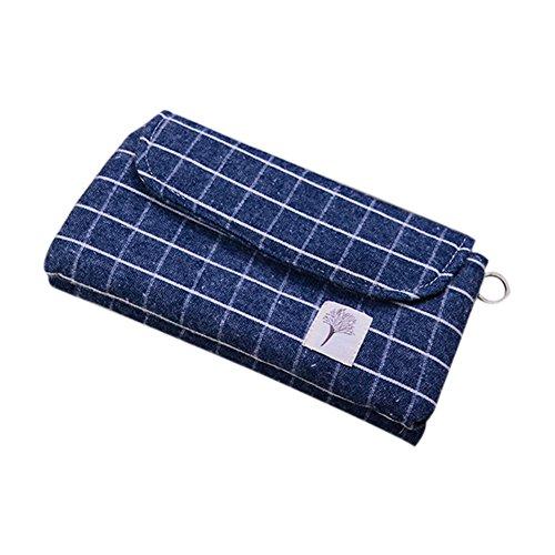 weimay Sac de la plume de la capacité supplémentaire de coton plus épais de la plume sac de la boîte de stockage de maquillage cosmétique de la température de Les lèvres Corée pour étudiants – Bleu