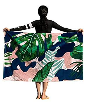 waterrun Beach Towels 100% Cotton  35 X 60 Inches  - Large Pool Towels  Palm Tree