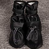 Zapatos deportivos grandes de cuero de PU de perro grande Botas impermeables de invierno para mascotas Cachorro de perro Martin Botas antideslizantes Pitbull Golden Retriever para el hogar, negro, XL