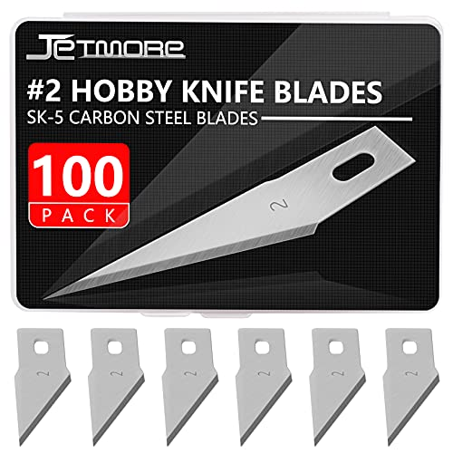 Craft Knife Blades 100 Pack #2 Knife Replacement Blades for Art and Craft Scrapbooking Supplies Cutting Caving Stencil