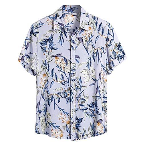 Luotuo Herren Hawaiihemd 3D Printed Galaxy T Hemden Shirt Männer Coole Grafik Hemden Shirts