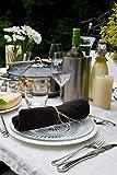Novillo Servietten aus hochwertigen Leinen in Schwarz [4 Stück] - 45 x 45 cm - Stoffservietten aus 100% Leinen - Die Leinenservietten sind strapazierfähig, saugstark und schmutzabweisend - 5