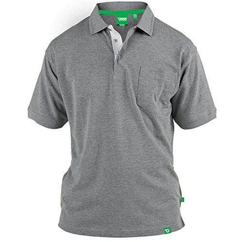Duke - Camiseta Polo de piqué Modelo D555 Grant en Talla Grande para Hombre