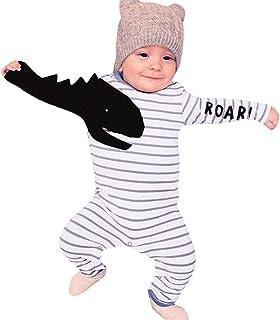 Sharemen Newborn Baby Boy Girl Letter Long Sleeve Romper Bodysuit Outfit Clothes