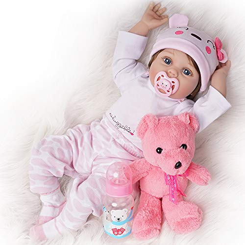 Justtoyou Silicone Reborn Baby Dolls Reborn Dolls Baby Dolls That Look Real,22 Inches