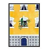 HJZBJZ Portugal Planta Chica Lienzo Pintura Cartel Impresiones Lienzo Cuadro de Pared para la decoración de la habitación del hogar-50X70 CM sin Marco 1 Uds
