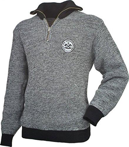 JOB Troyer Pullover Pulli ZIMMERER Zimmermann Zunft grau/schwarz Zunft-Emblem (M)
