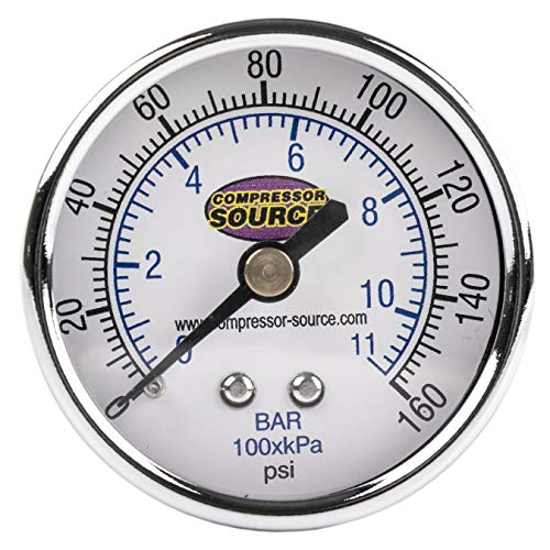 Quality 0-160 PSI Air Pressure Gauge 1/4