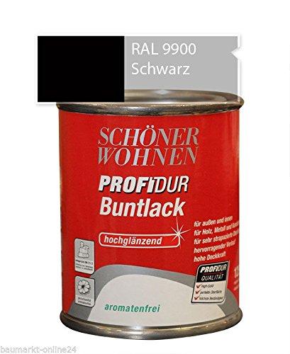 Schöner Wohnen ProfiDur Lack 750 ml Alkydharzlack Hochglänzend Schwarz 9900