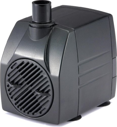 PonicsPumps Submersible Pump with for Hydroponics, Aquaponics, Fountains, Ponds, Statuary, Aquariums & More. Comes with 1 Year Limited Warranty. (530 GPH : 6' Cord)