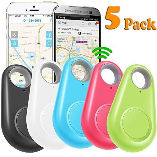 GBD 5 Pack GPS Tracker Smart Key Finder Locator for Kids Boys Girls Pets Key Wallet Car Dog Cat Bag...