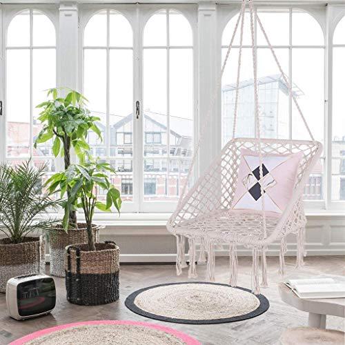 USLuxury Indoor Swing with Cotton Fabric for Superior Comfort Durability Hammocks