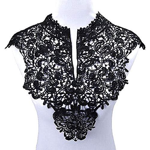 huyipin schwarze Spitze, zum Aufnähen auf Kragen/Stoff / Paste/Sticker, Stickerei, für Kleidung, Handarbeit