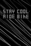 Stay Cool Ride Bike: darkgrey used look Striped notebook diary bike mountain bike BMX MTB blank notebook diary logbook sketchbook DIN A5 120 dotted-lined pages