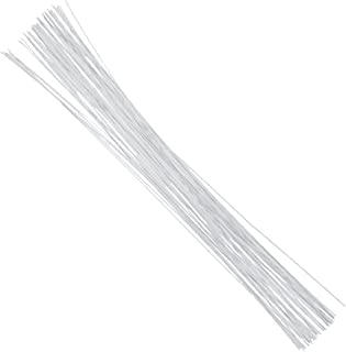 DECORA 26 Gauge White Floral Wire Stem for Floral 16 inch,50/Package