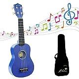 POMAIKAI Soprano Ukulele Kids Guitar, 21 inch Ukelele Small Hawaiian Guitar for Beginner Adult with Gig Bag (Dark Blue)