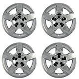 17 inch Hubcaps Compatible with 2008-2012 Chevrolet Malibu - Set of 4 Wheel Covers 17in Hub Caps Chrome Rim Cover - Car Accessories for 17 inch Wheels - Snap On, Auto Tire Replacement Exterior Cap