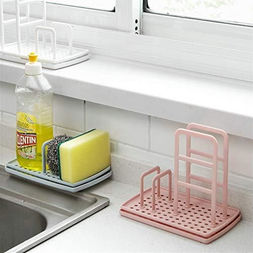 Trihedral-X Afvoer keuken rekken veelzijdige keuken bus opgeslagen gevouwen doek wassen spons toiletartikelen badkamer opslag (Maat: Blauw)