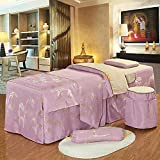 Xkun Funda de cama de lujo simple de lujo de seis piezas de gama alta alta simple luz masaje cama falda 70 x 190 cm