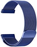 Watdpro Replacement Bands Compatible for Versa 3 / Sense, Stainless Steel Metal Band Sports Fitness Accessory Wristband for New Versa Sense Smart Watch 2020 for Women Men