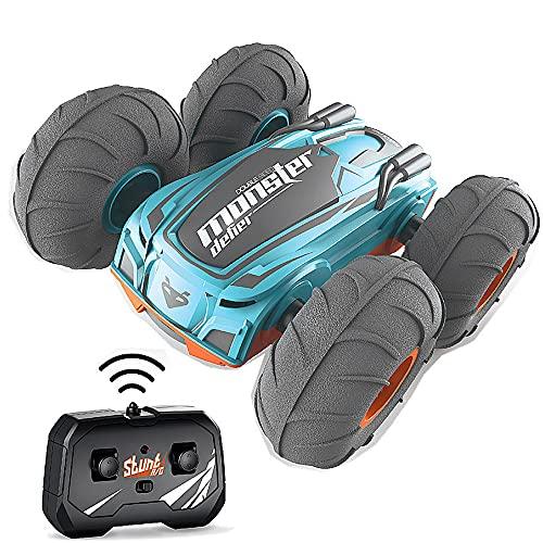 ADSVMEL Bigfoot Stunt Truck Car 2.4GHz Radio Control Remoto Todo Terreno Drift Crawler Bigfoot Drift Car Rotación de 360 ° Mini Coches eléctricos de Juguete para niños niñas de 8 a 12 años