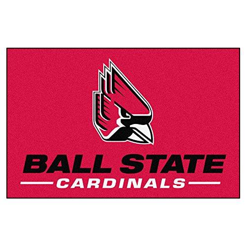 FANMATS - 4286 NCAA Ball State University Cardinals Nylon-Teppich für Anfänger, 48,3 x 76,2 cm