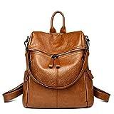 Perilla fire-Backpack Mochila de piel vintage para mujer, mochila escolar para niñas, ocio, bolso...