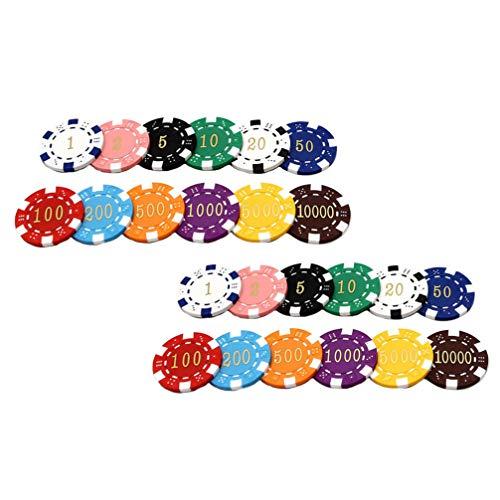 TOYANDONA 24 Piezas de Fichas de Póquer de Plástico Monedas de Bingo Conteo Chip de Aprendizaje Contadores Discos de Conteo Juguetes para La Práctica de Matemáticas Juego de Póker Estilo