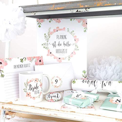 Braut Countdown Kalender, Verlobungsgeschenk, Brautgeschenk, Hochzeit, beste Freundin, Geschenk für Braut,