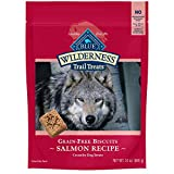 PACKED WITH REAL SALMON: BLUE Wilderness Trail Treats start with real salmon as the first ingredient, making them a truly irresistible dog treat CRUNCHY DOG TREATS: These dog biscuits are made with an irresistible crunch to satisfy their wild side an...